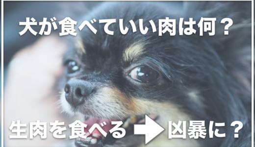 犬が食べていい肉は何?生肉をあげると食中毒や凶暴になるって本当?